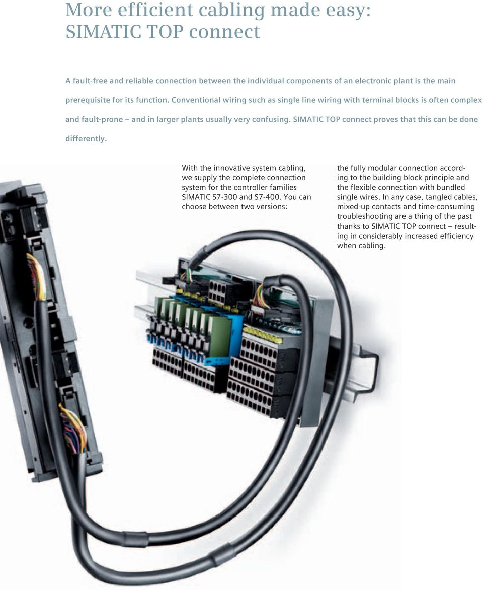 What Ensures Easy And Fast Wiring Pdf Innovative Simatic Top Connect Proves That This Can Be Done Differently With The System Cabling