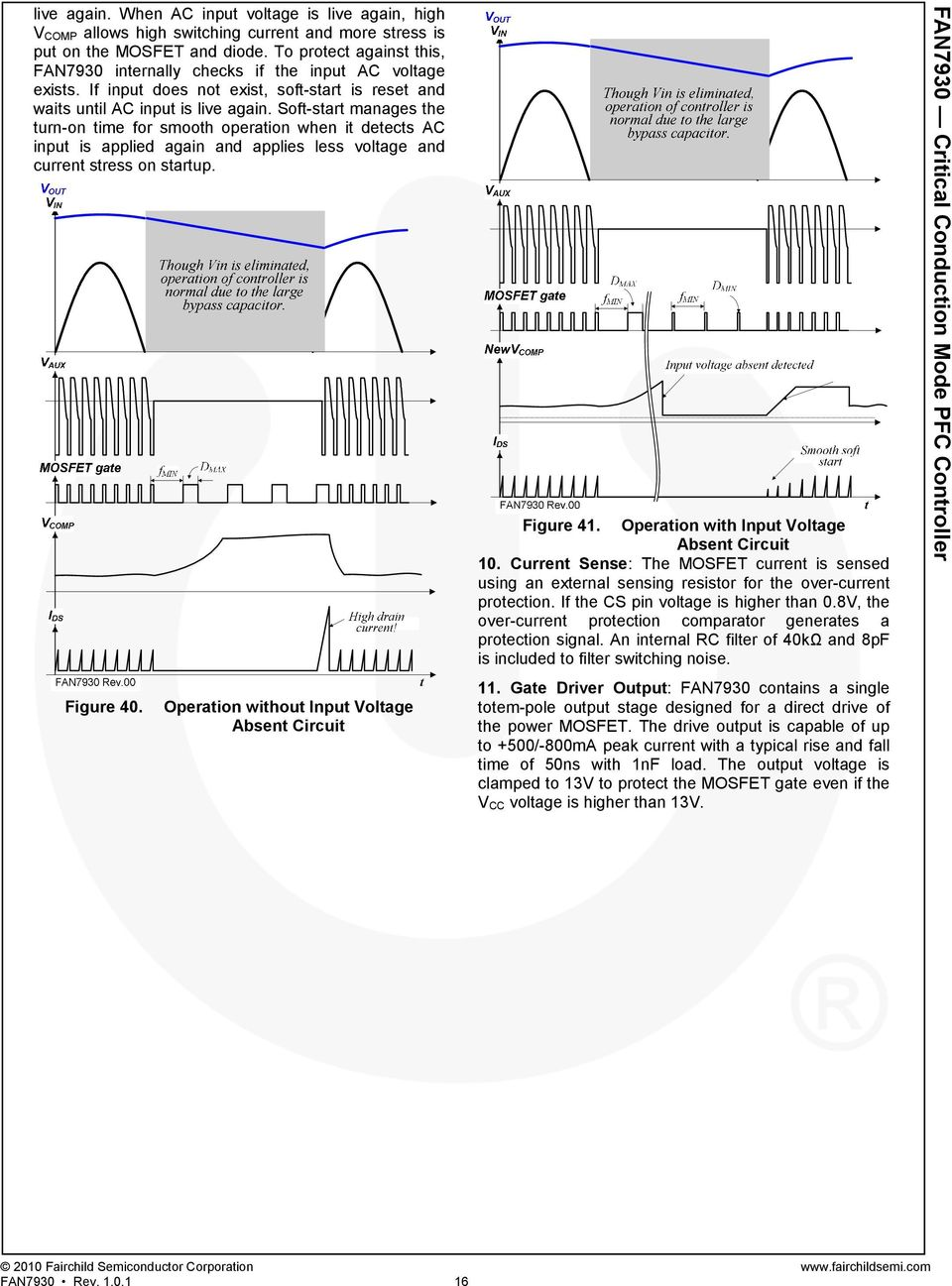 Fan7930 Critical Conduction Mode Pfc Controller Pdf Of A Boost Converter With External Mosfet For Short Circuit Protection Soft Start Manages The Turn On Time Smooth Operation When It Detects Ac