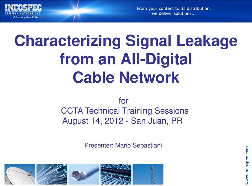 Technical Training Sessions August 14,