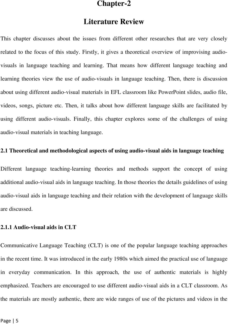 Effectiveness of Audio-visual Aids in Language Teaching in