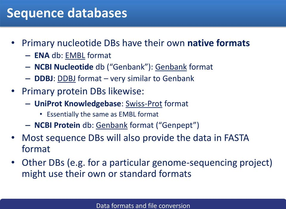Data formats and file conversions - PDF