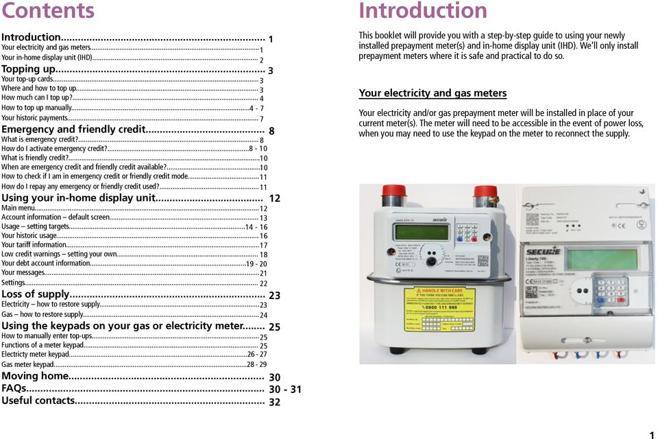 Prepayment meters  A guide to using your First Utility