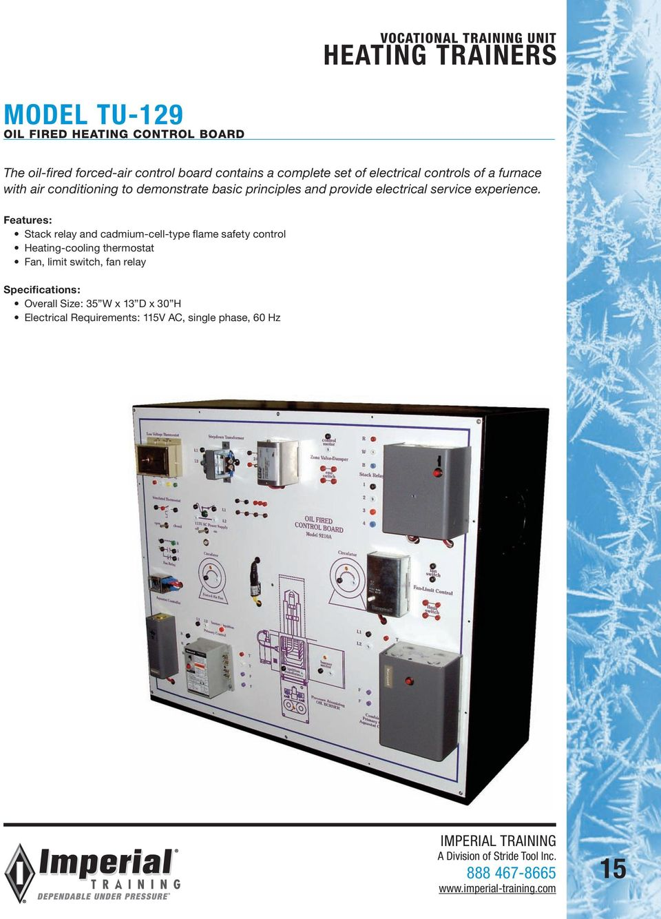 Vocational Training Units 2013 Catalog Pdf Oil Furnace Limit Switch Wiring Diagram Electrical Service Experience