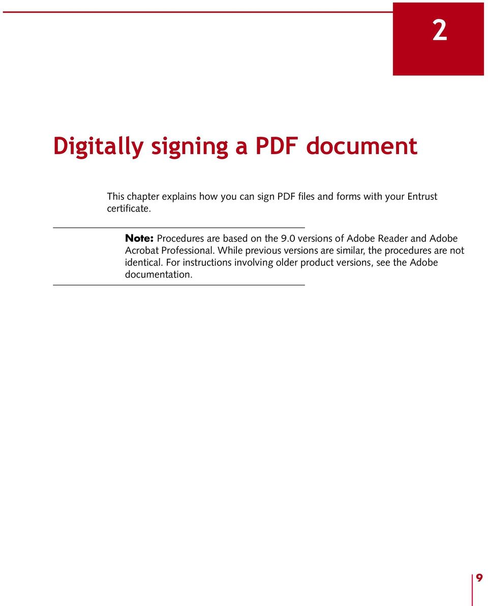 Using Entrust certificates with Adobe PDF files and forms - PDF