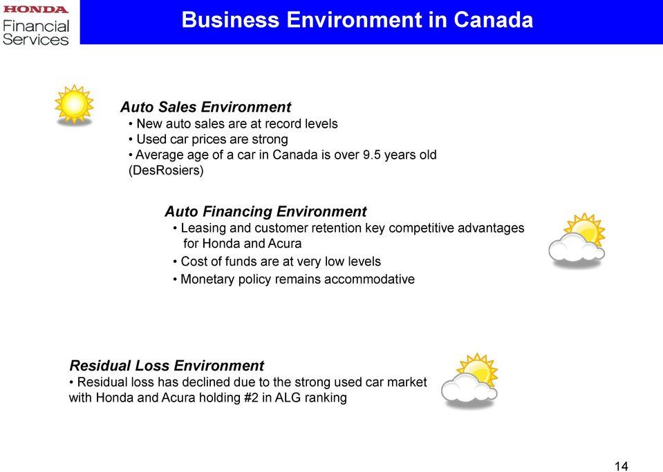 5 Years Old DesRosiers Auto Financing Environment Leasing And Customer Retention Key Competitive Advantages