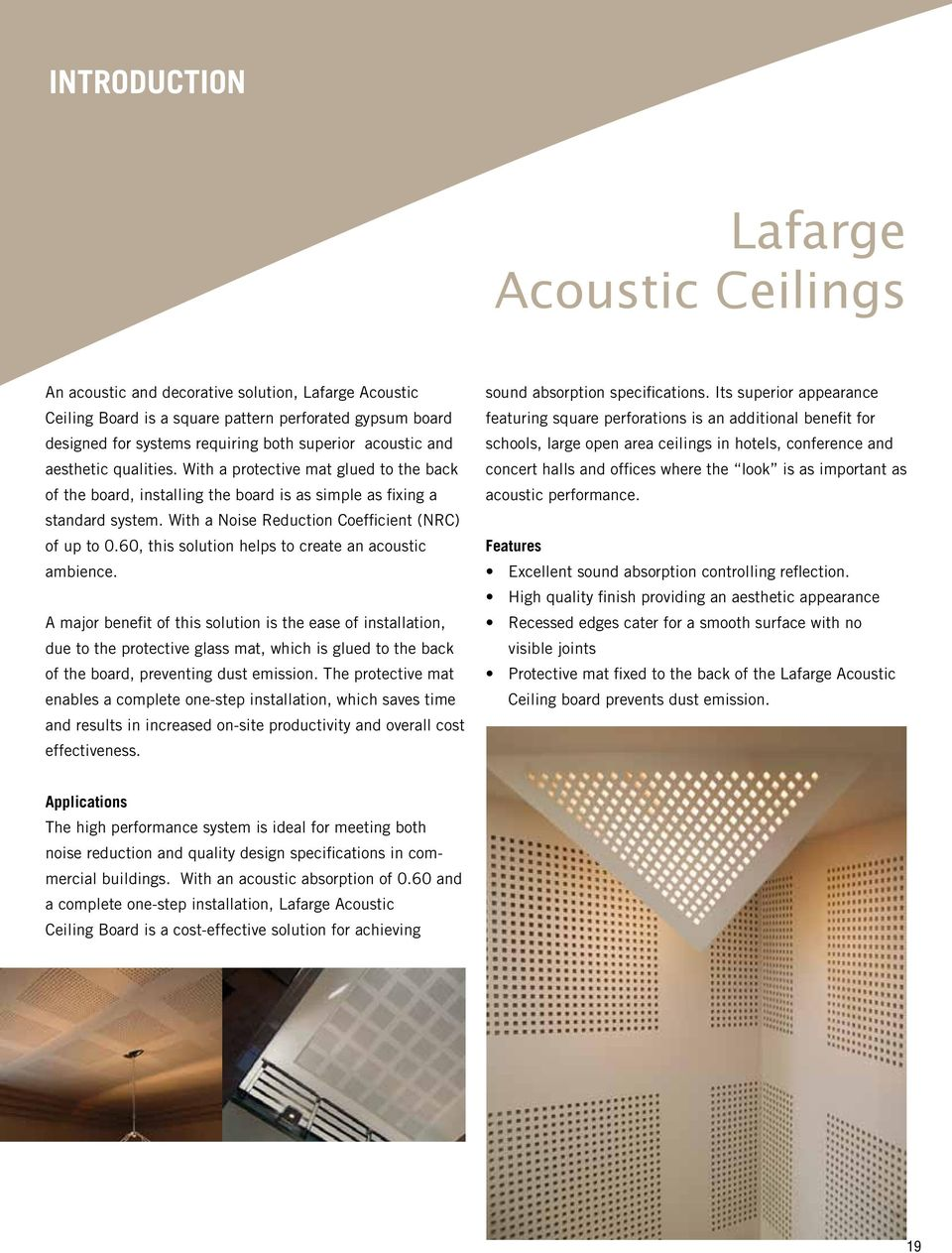 60 This Solution Helps To Create An Acoustic Ambience