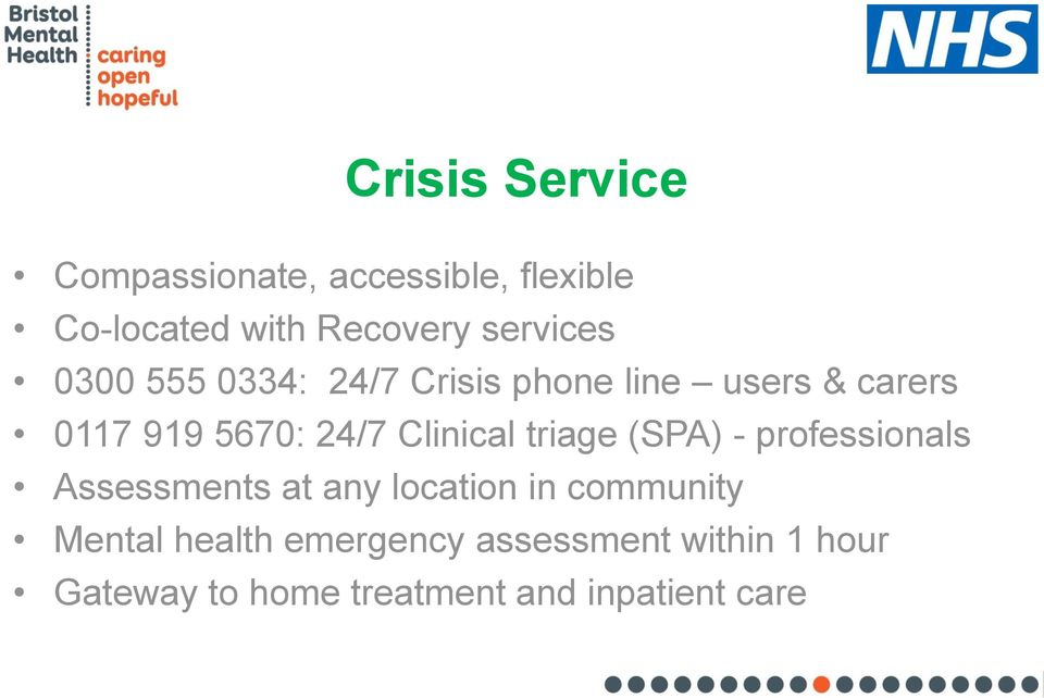 An Update On Bristol Mental Health Services Dr Will Hall Consultant Psychiatrist Interim Clinical Director For System Leadership Bmh Pdf Free Download