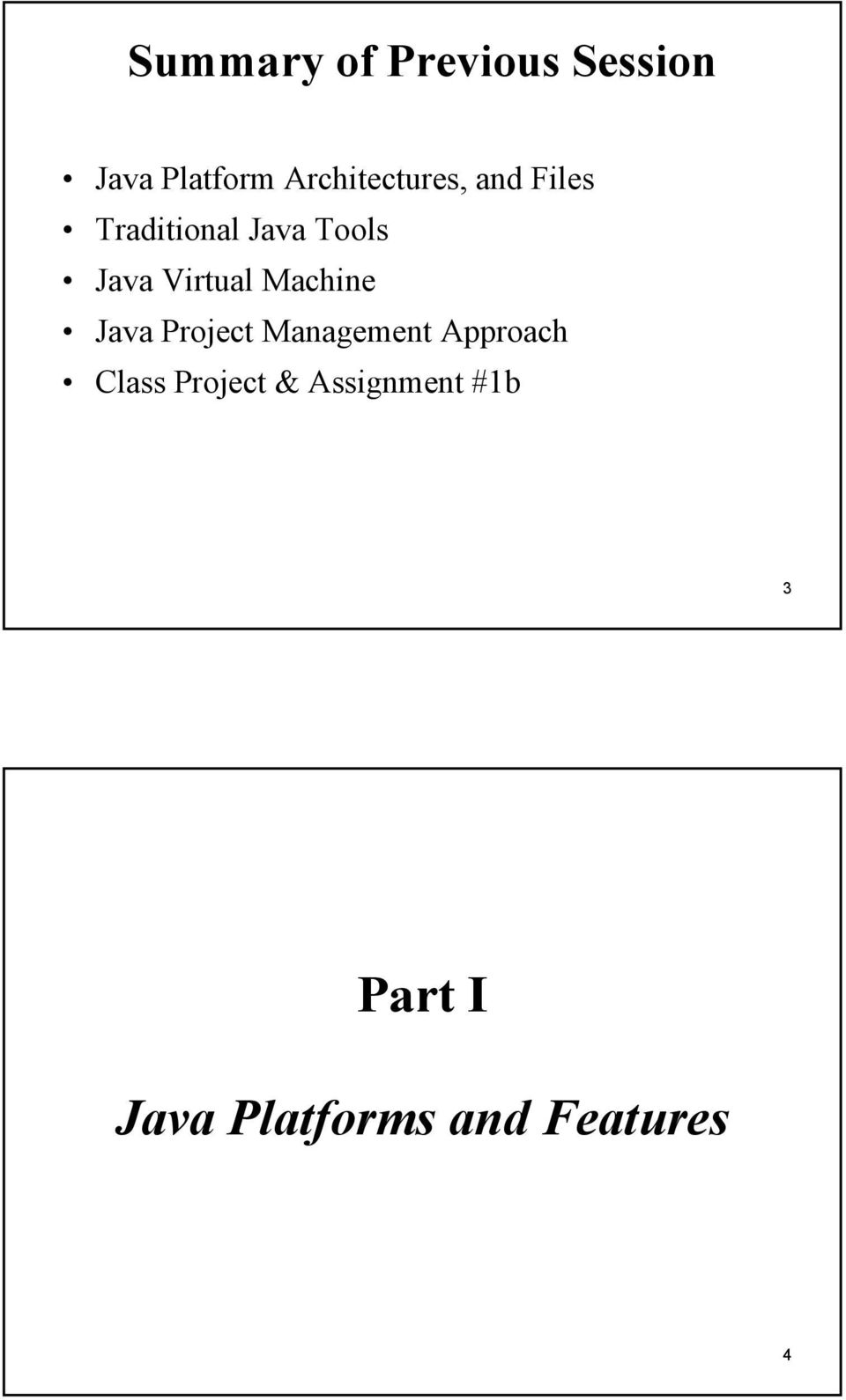 Virtual Machine Java Project Management Approach