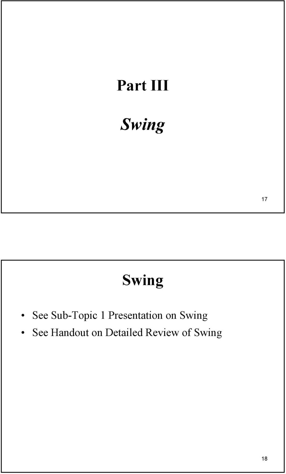 Presentation on Swing See