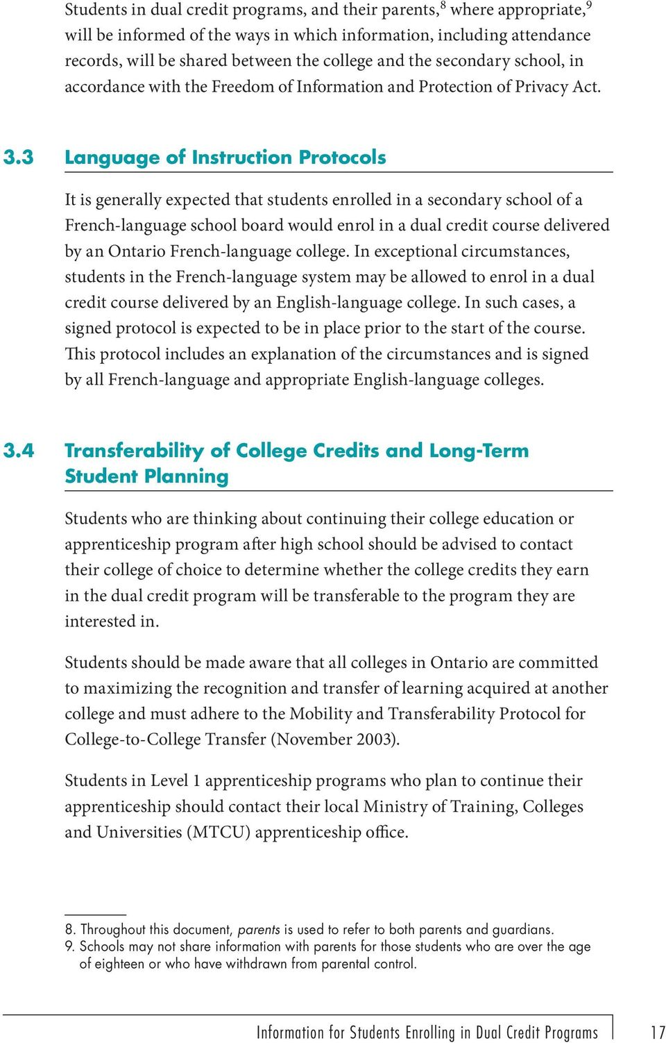 Long Are College Credits Appropriate