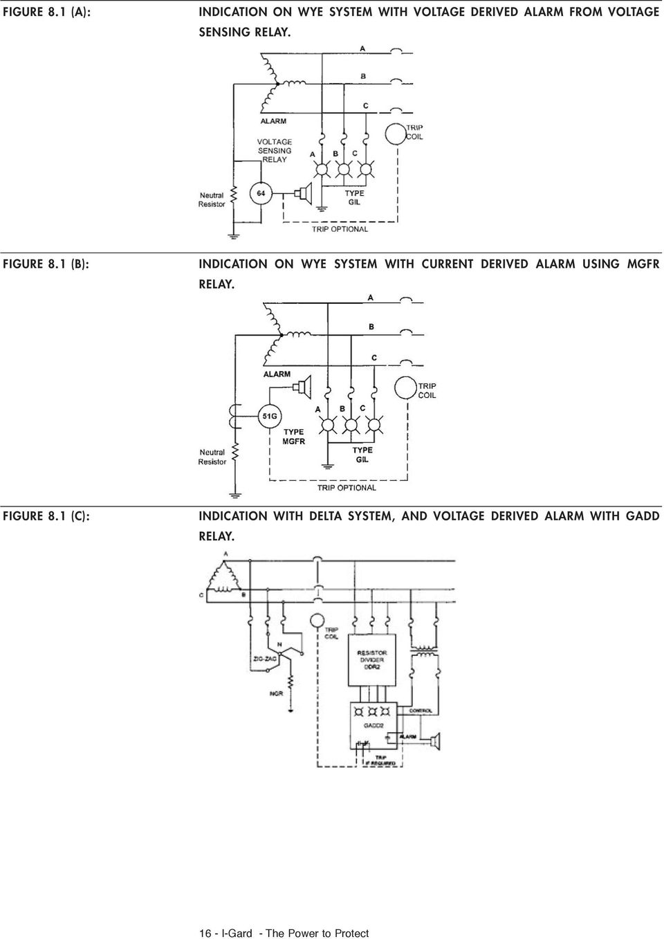 Ground Fault Protection On Ungrounded And High Resistance Grounded Wiring Zig Unit Sensing Relay