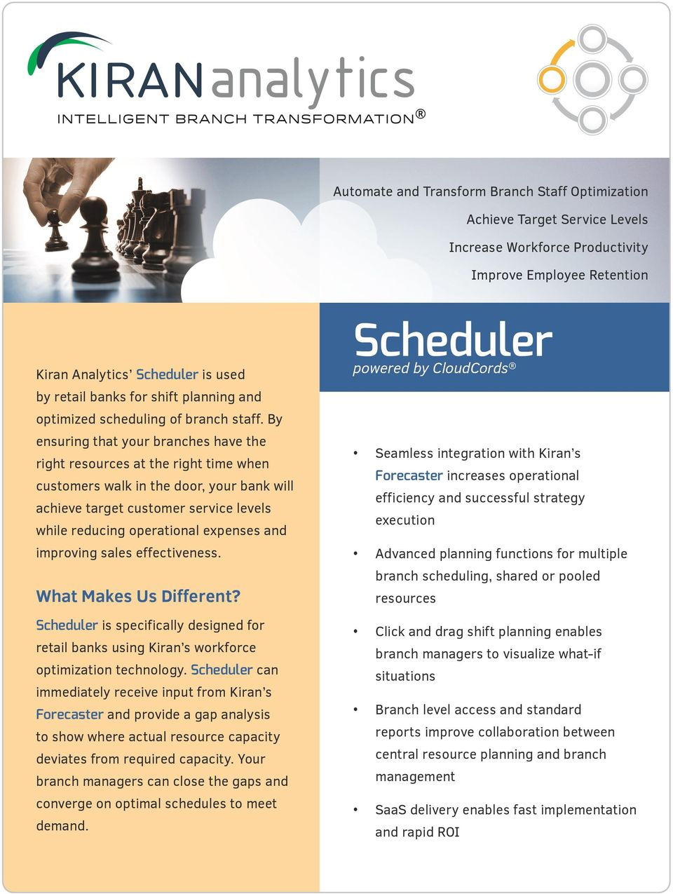 Scheduler  What Makes Us Different? powered by CloudCords  Automate