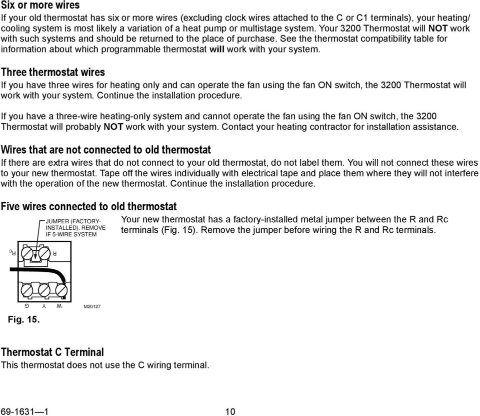 Ct3200 Programmable Thermostat Pdf Wiring A See The Compatibility Table For Information About Which Will Work With Your System