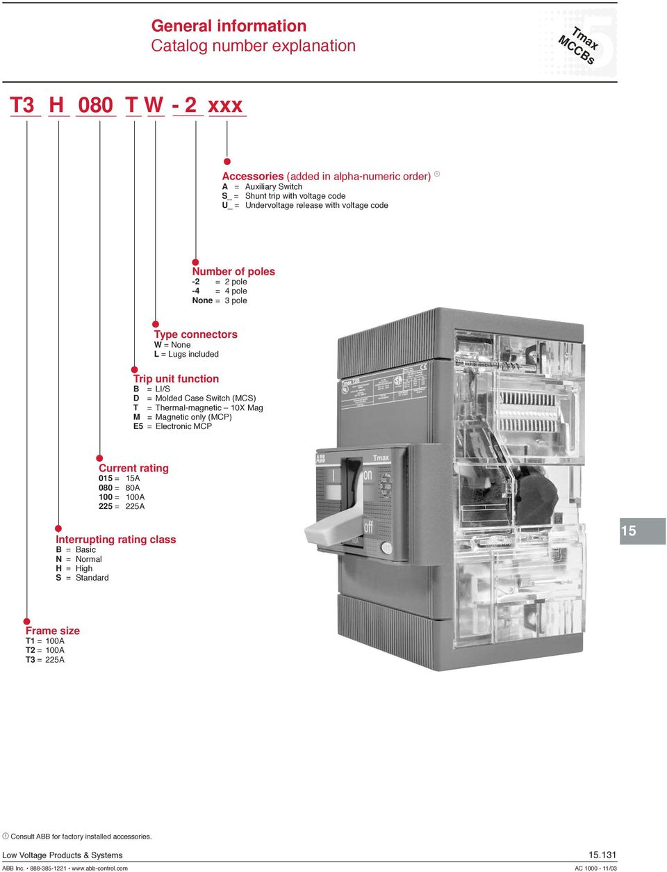 Tmax MCCBs  Molded case circuit breakers  Tmax - PDF
