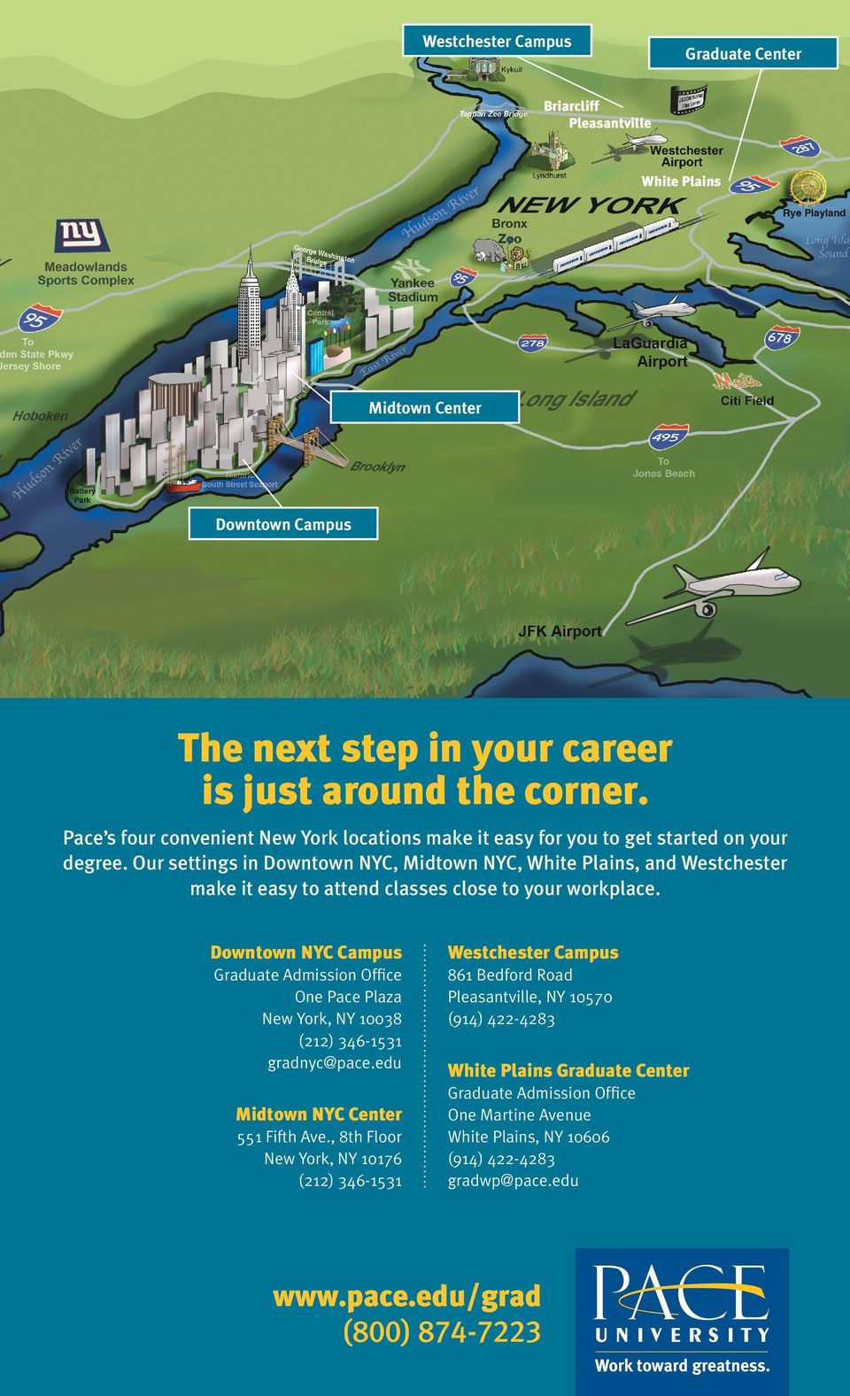 Pace University Pleasantville Campus Map.Take Your Career To The Next Level Pace University Graduate