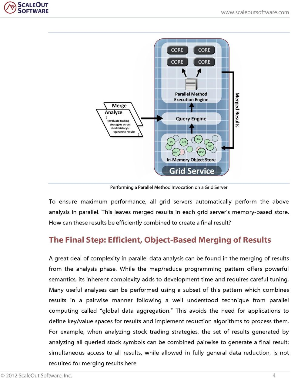 The Final Step: Efficient, Object-Based Merging of Results A great deal of complexity in parallel data analysis can be found in the merging of results from the analysis phase.