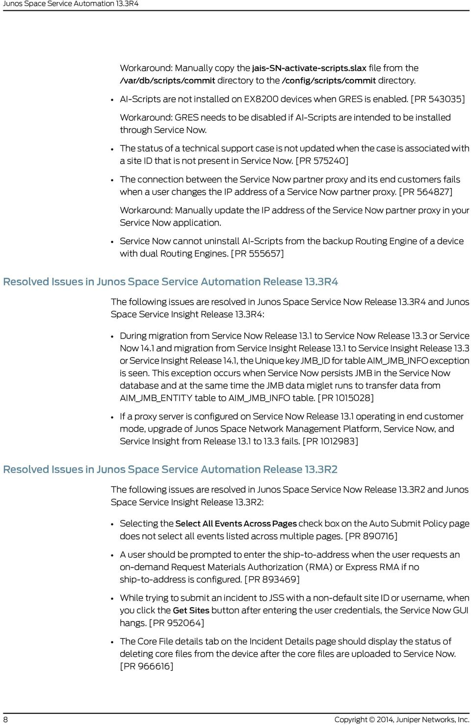 Release Notes: Junos Space Service Automation 13 3R4 - PDF