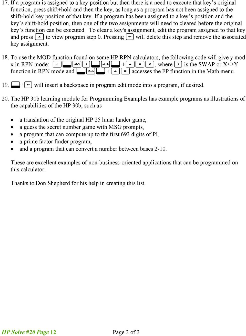 Hp solve calculating solutions powered by hp pdf if a program has been assigned to a key s position and the key s shift fandeluxe Choice Image