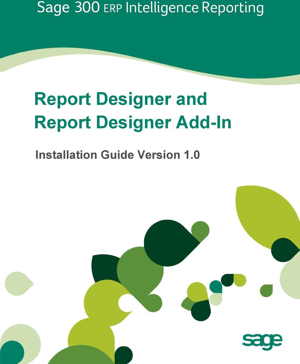 Report Designer Add-In