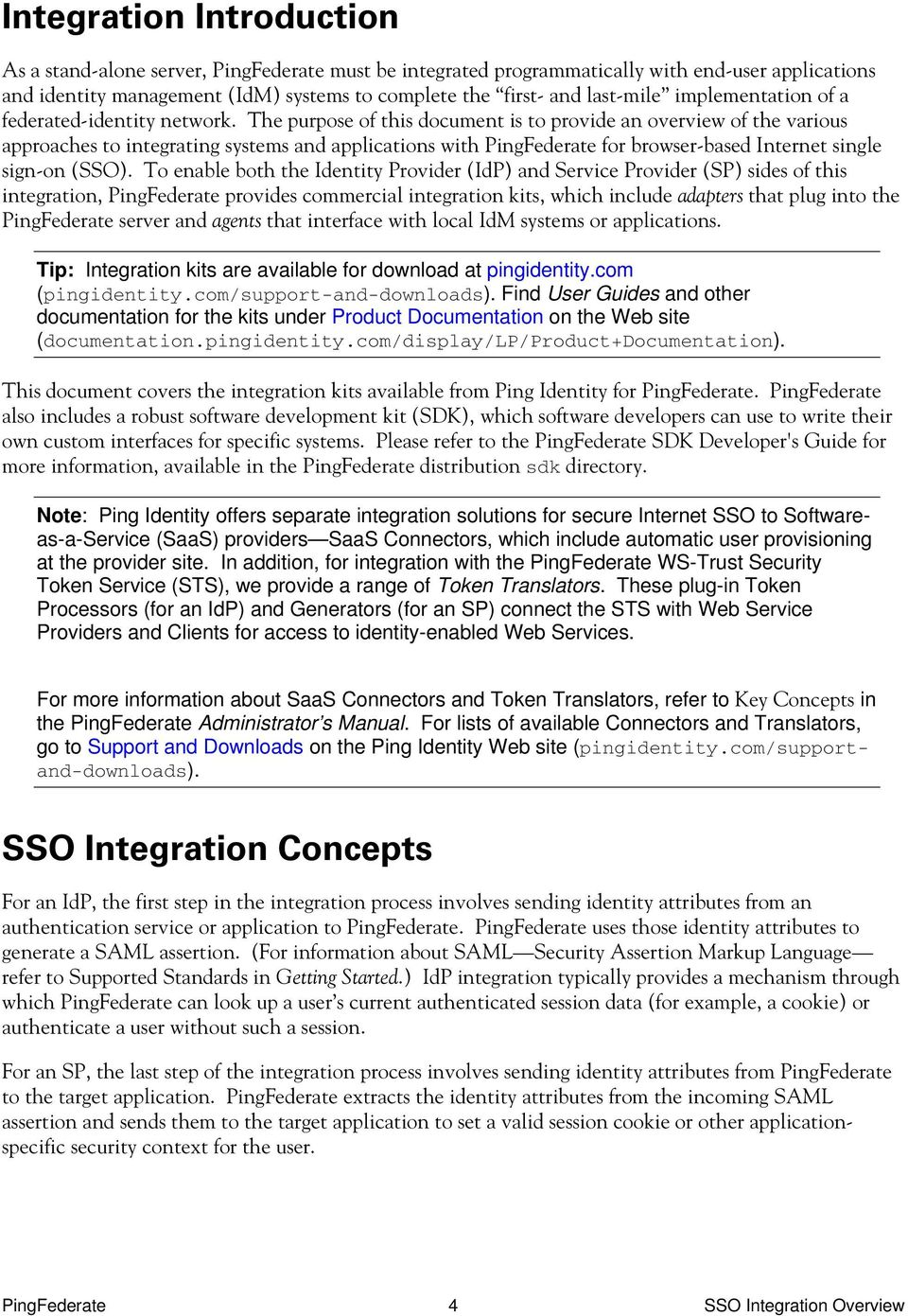 PingFederate  SSO Integration Overview - PDF