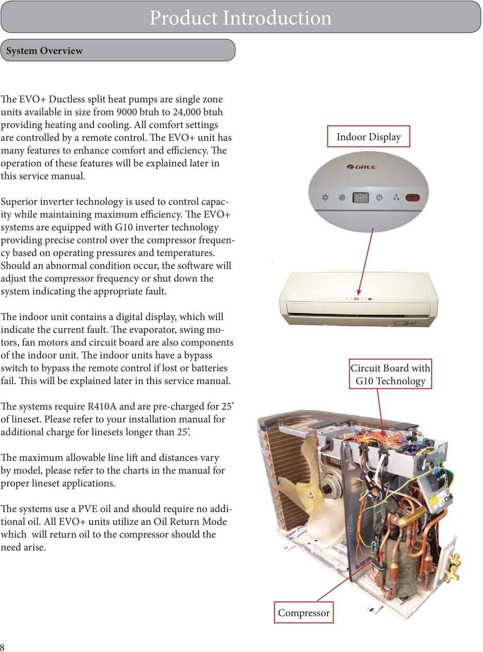 evo+ Installation, Service & Troubleshooting DUCTLESS SYSTEM