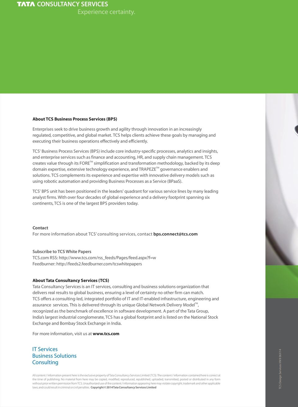 Business Process Services  White Paper  Improving Efficiency in
