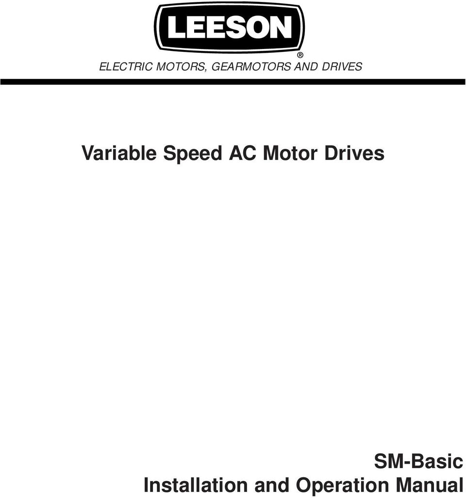 variable speed ac motor drives sm basic installation and operation Basic Parts of a Motor ac motor drives sm basic