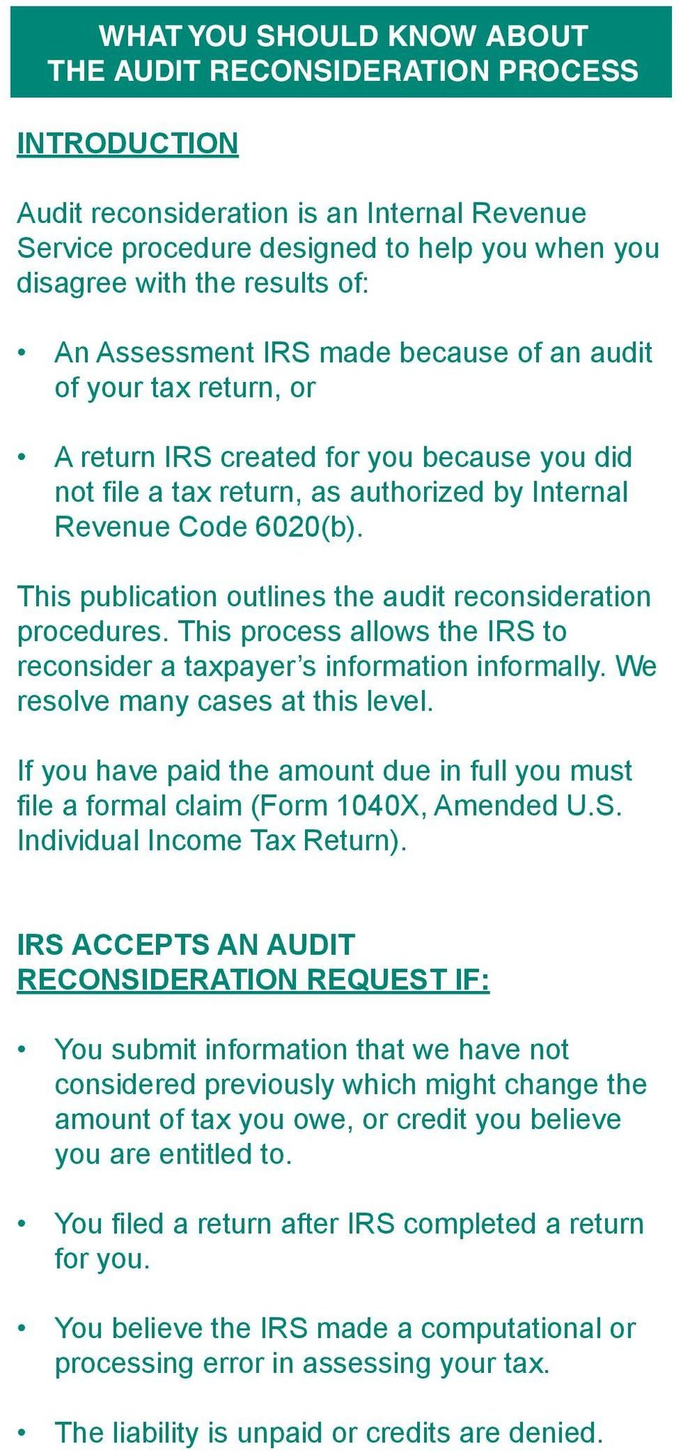 THE AUDIT RECONSIDERATION PROCESS - PDF