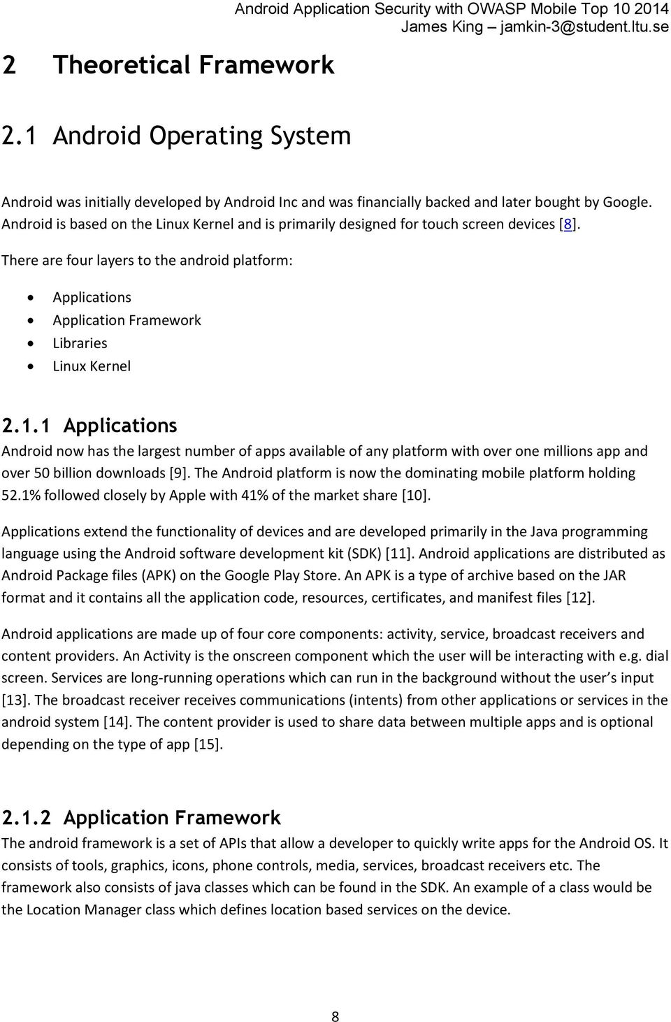 MASTER'S THESIS  Android Application Security with OWASP Mobile Top