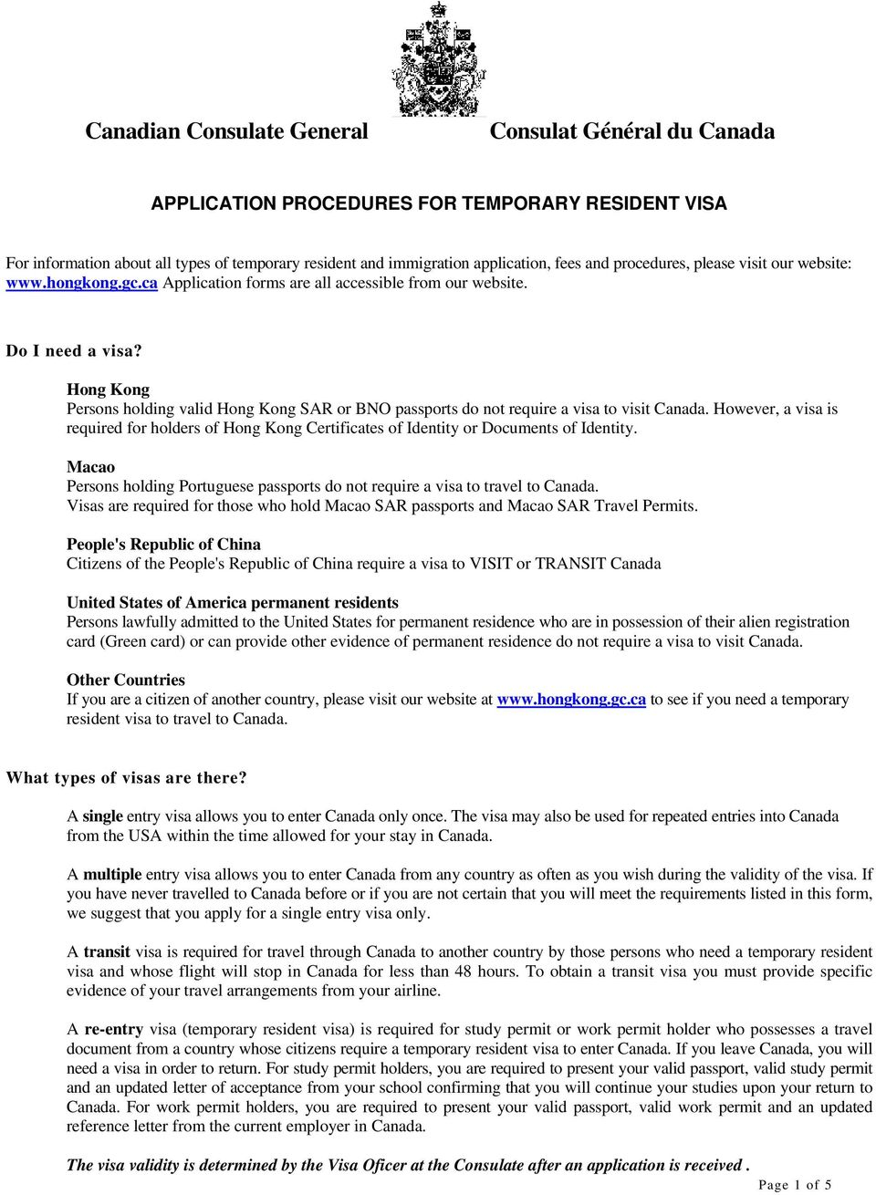 APPLICATION PROCEDURES FOR TEMPORARY RESIDENT VISA - PDF