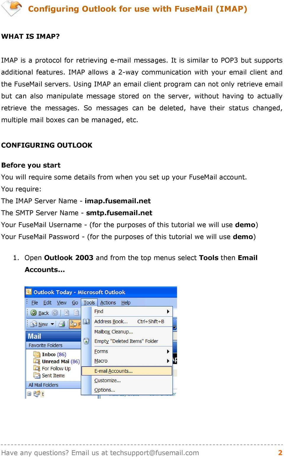USING MS OUTLOOK WITH FUS - PDF
