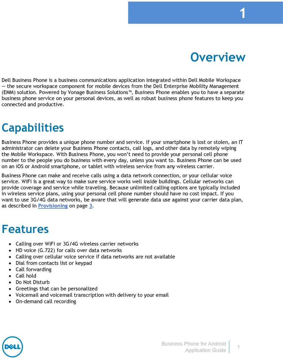 Dell Business Phone for Android - PDF