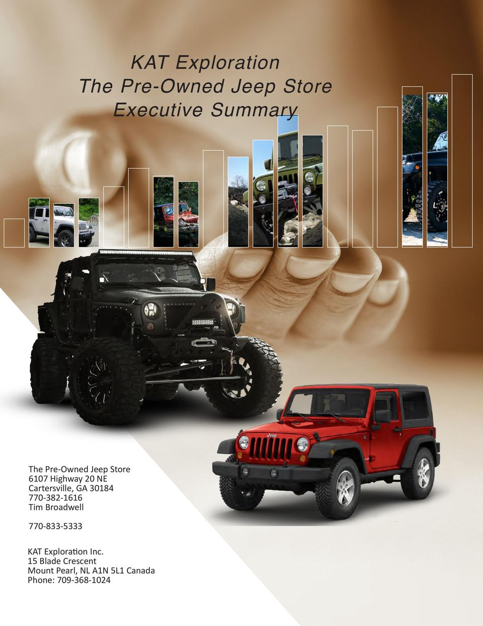 770 382 1616 Tim Broadwell 770 833 5333 KAT Exploration Inc. 2 Roswell Jeep  Eagle. D.b.a. 1 The Pre Owned Store ...