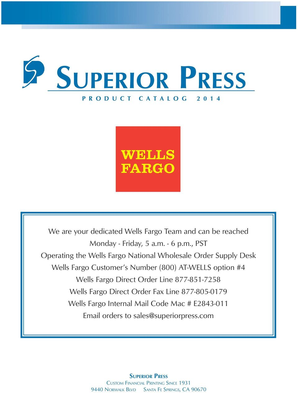 custom financial printing & supplies since 1931 superior Products - PDF