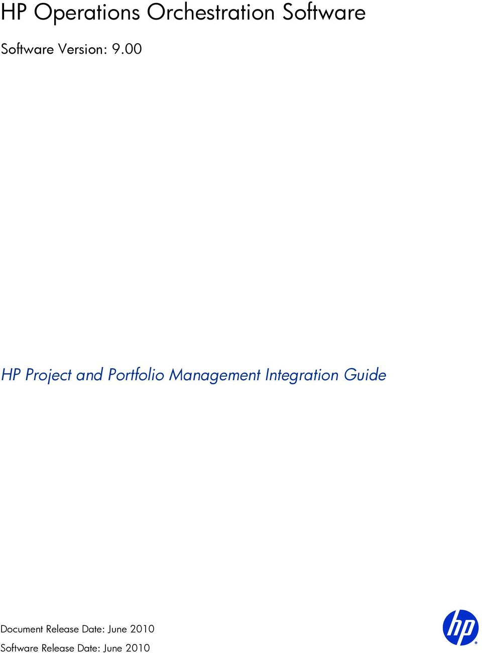 00 HP Project and Portfolio Management