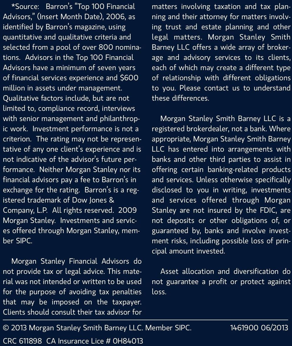 The SWS Group at Morgan Stanley - PDF
