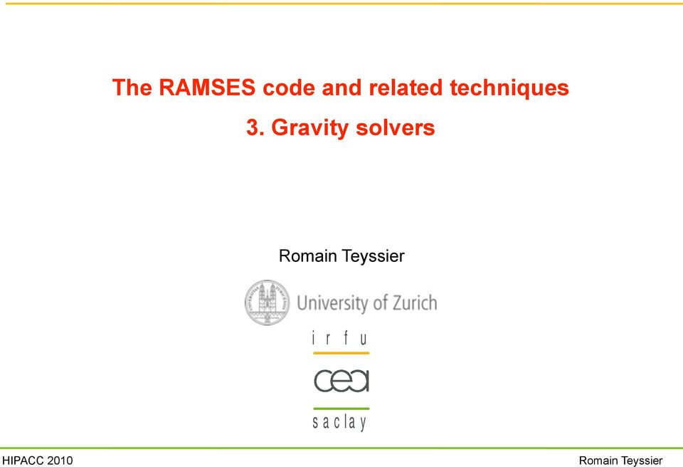 The RAMSES code and related techniques 3  Gravity solvers - PDF