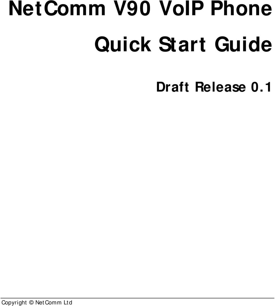 Guide Draft Release