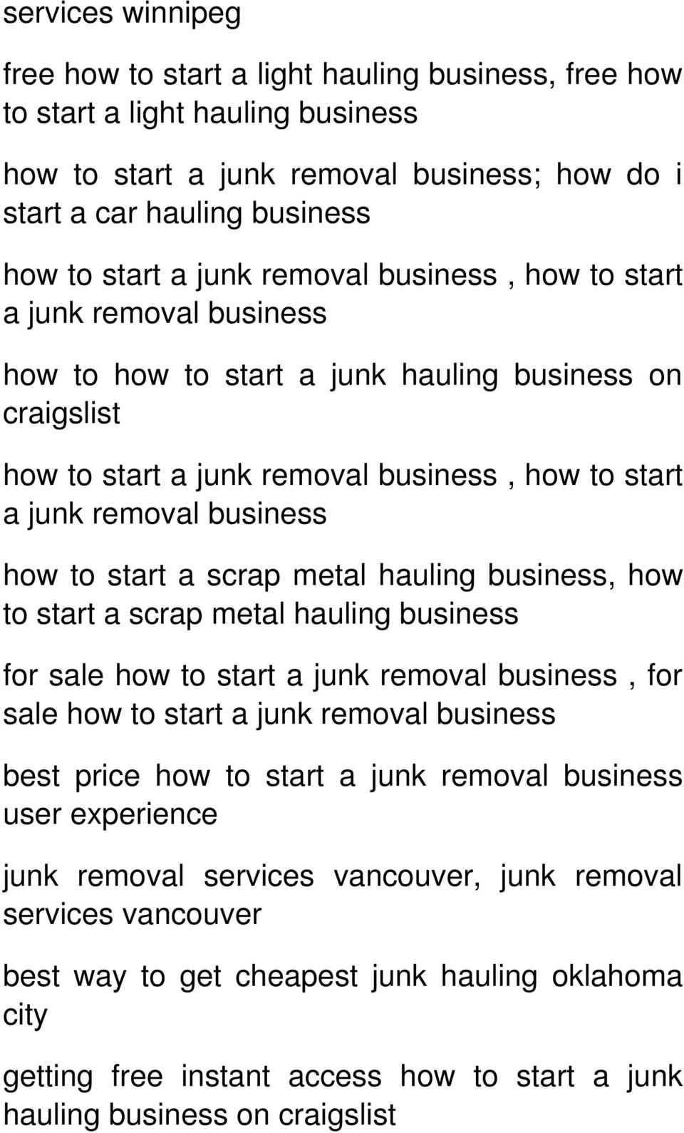 How to Start a Junk Removal Business User Review --->> Click