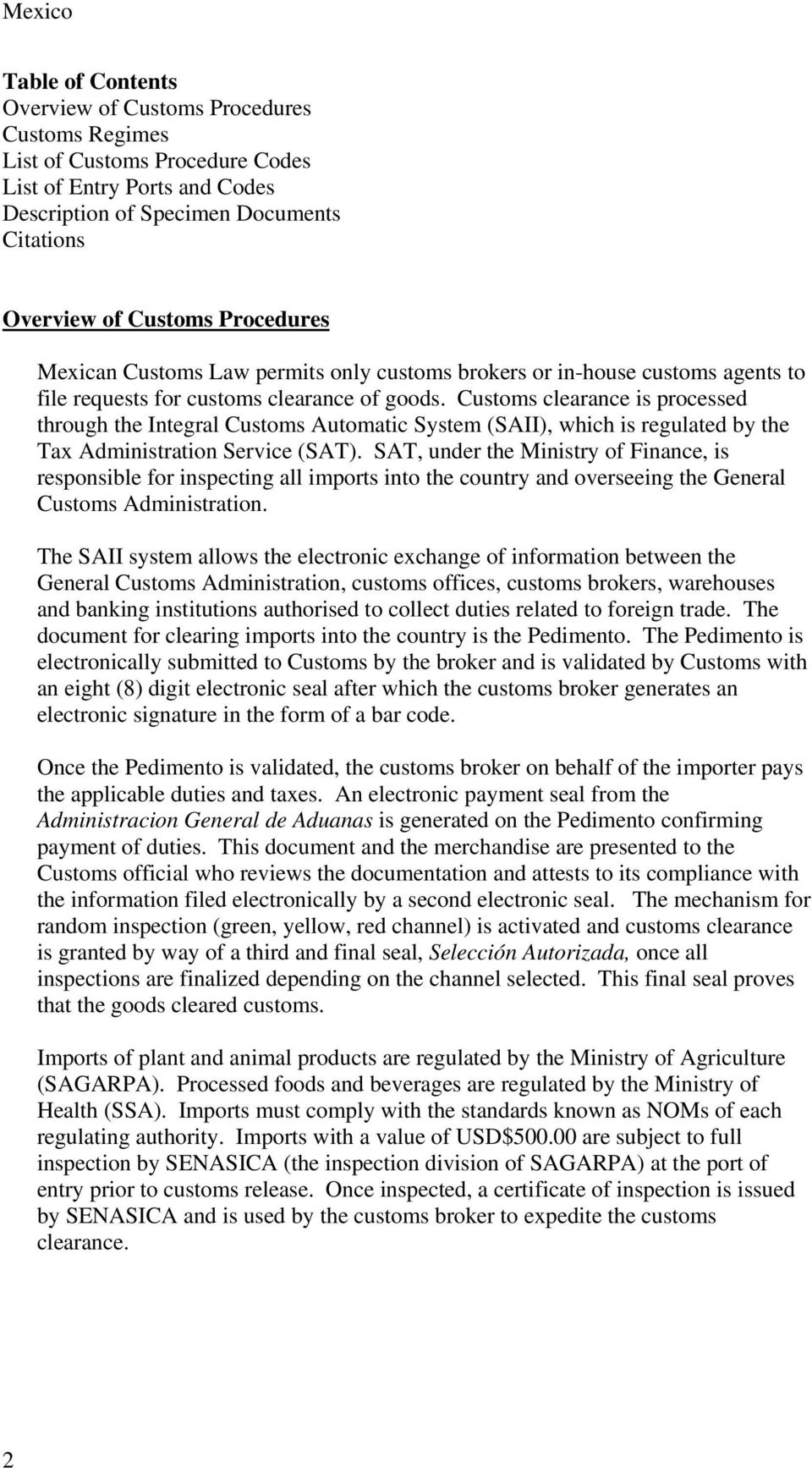 Country Dossier  Mexico - PDF