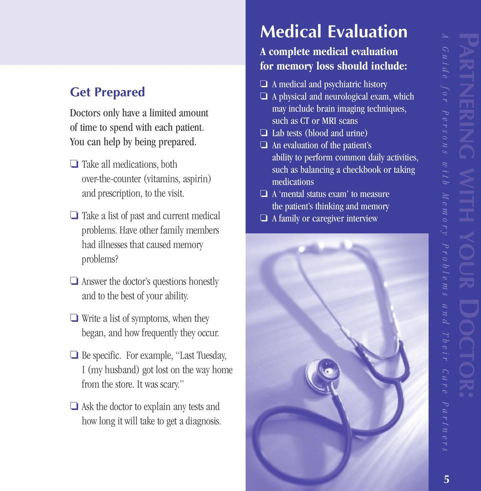 PARTNERING WITH YOUR DOCTOR: - PDF