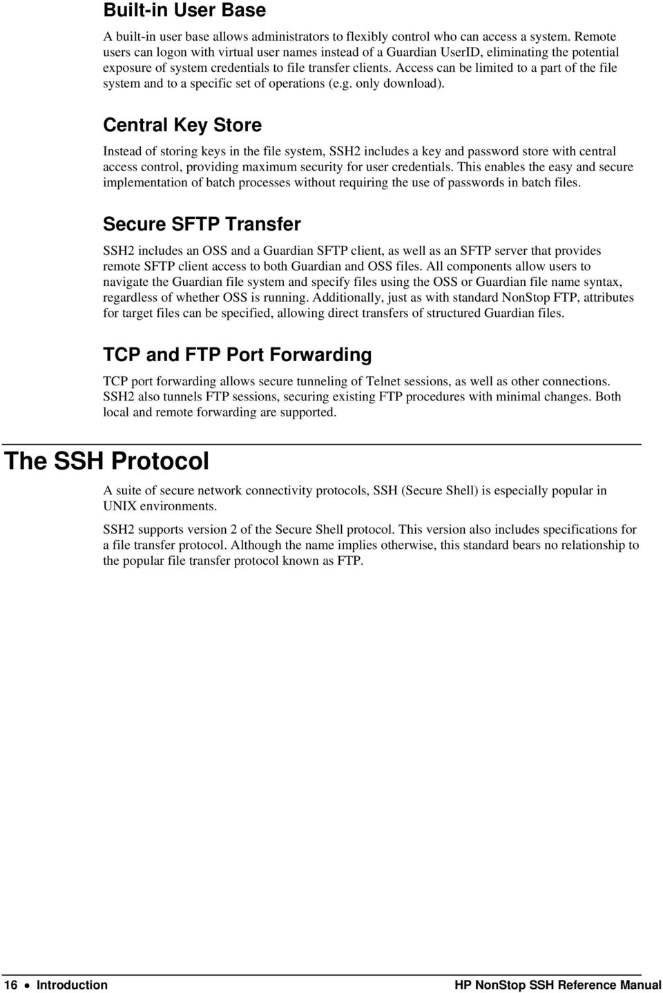 HP NonStop SSH Reference Manual - PDF