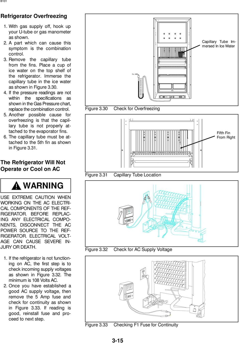 Norcold Repair Guide Models 442 443 452 453 462 463 482 Pdf Ac Dc Refrigerator Schematics If The Pressure Readings Are Not Within Specifications As Shown In Gas Chart