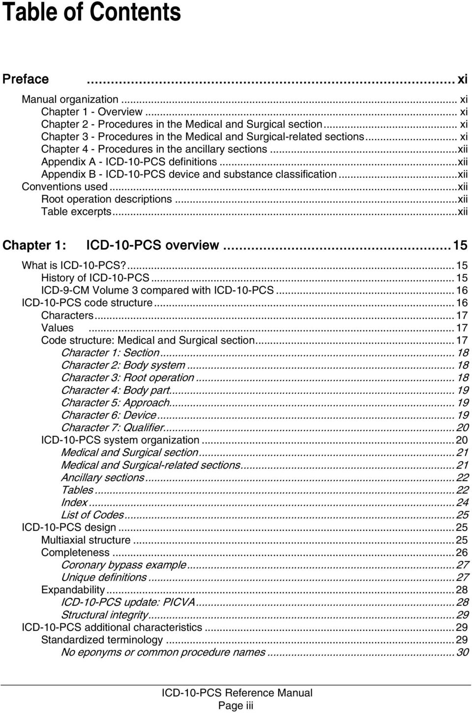 Icd 10 Pcs Reference Manual Pdf