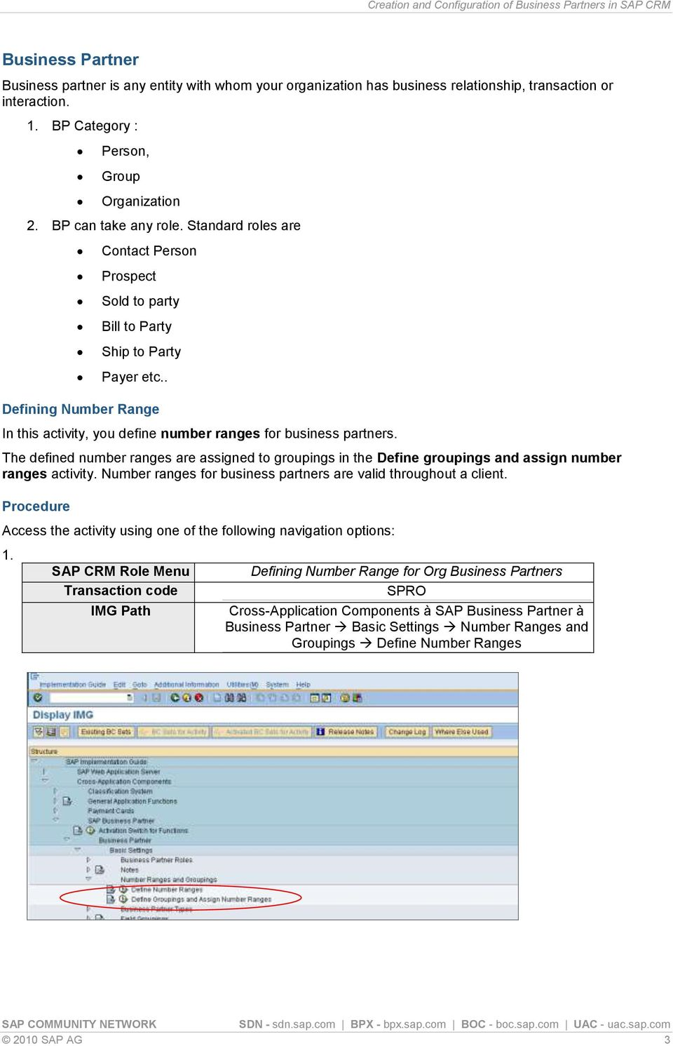 Creation and Configuration of Business Partners in SAP CRM - PDF