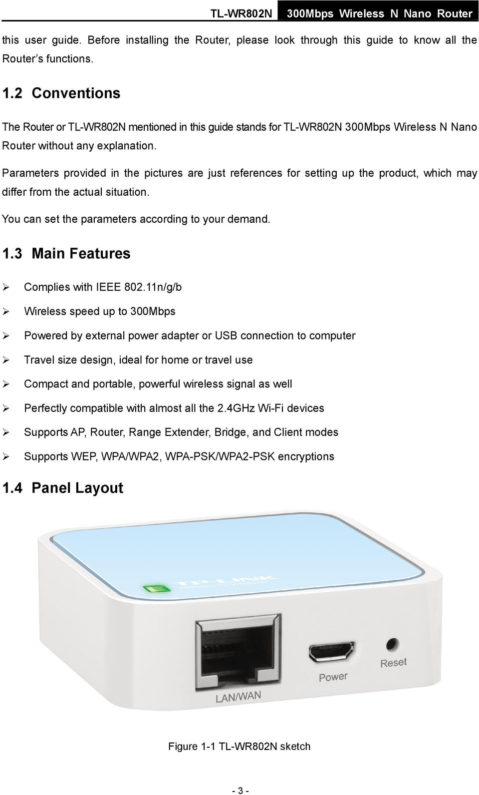 TL-WR802N 300Mbps Wireless N Nano Router - PDF