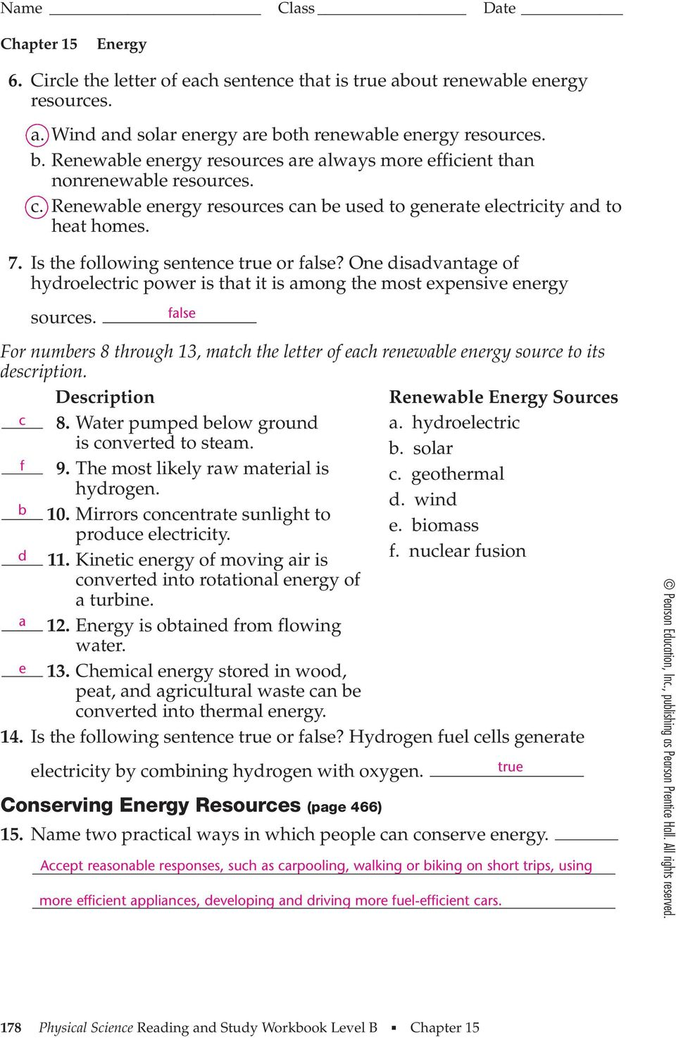 Section 15.1 Energy and Its Forms (pages ) - PDF