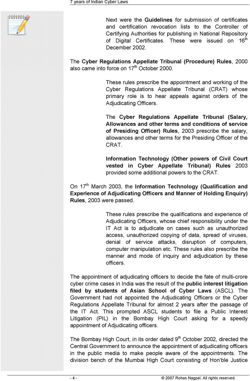 7 Years Of Indian Cyber Law Rohas Nagpal Pdf