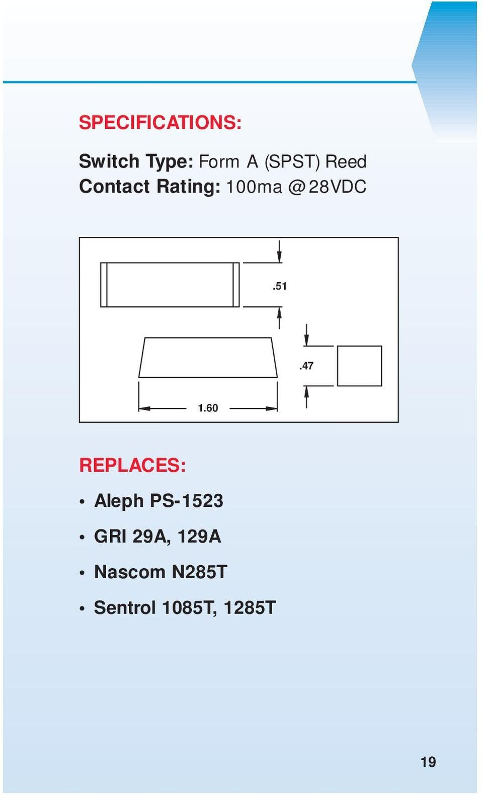 Magnetic Contact Guide Pdf Spst Reed Relay Wiring Diagram 28vdc5147 1