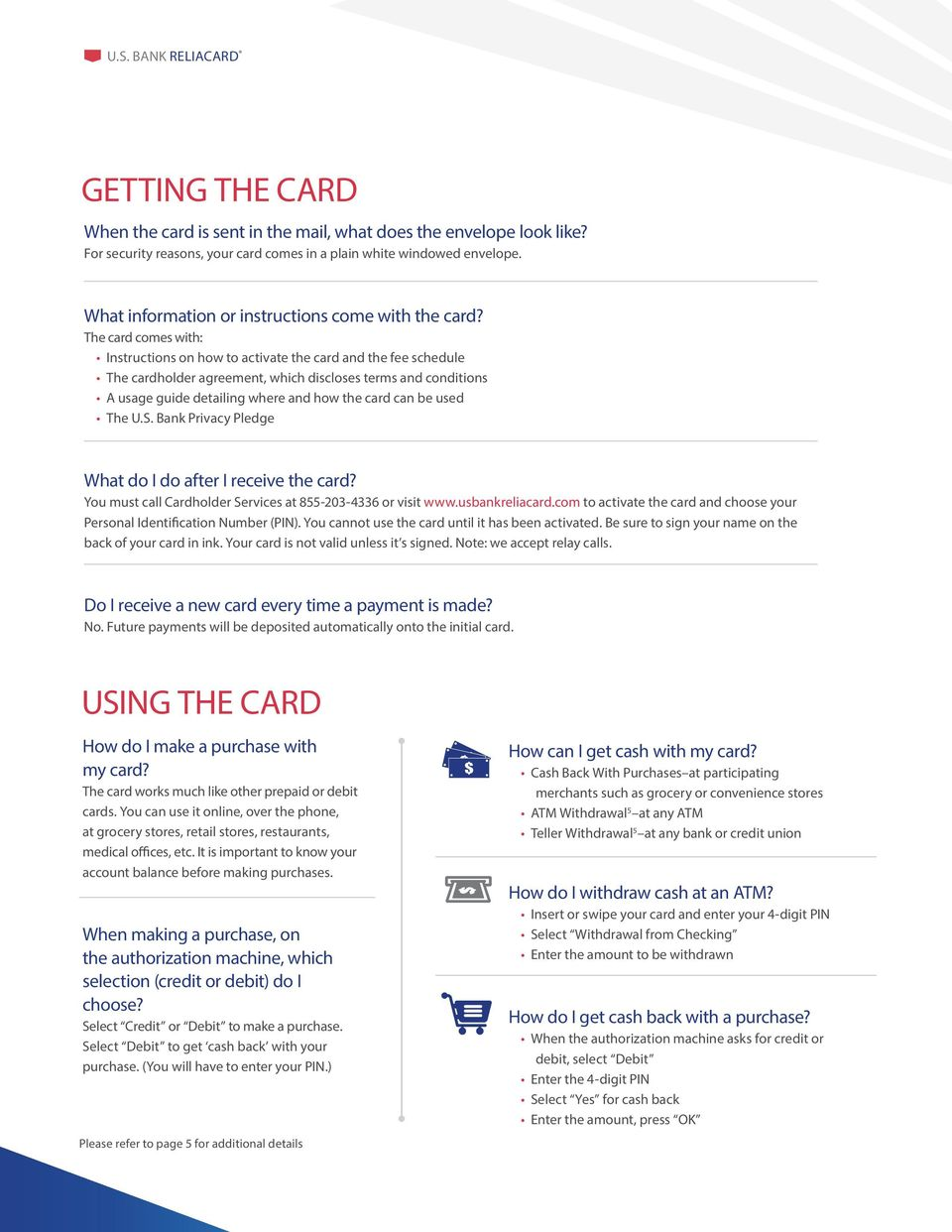 ReliaCard THE RELIACARD FREQUENTLY ASKED QUESTIONS - PDF